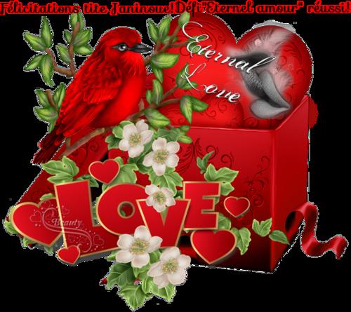 Défi 54:Eternel amour.Bravooo et merci ma tite Janinoue  ta récompense en ligne ICI*