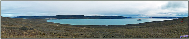 Panorama sur Erebus Bay - Beechey Island - Nunavut - Canada