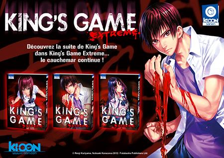 La suite de King's Game chez Ki-oon !