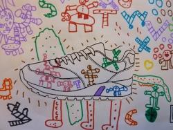 Une nouvelle vie pour les chaussures... art plastique...