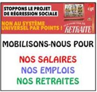 Pour nos salaires, nos emplois, nos retraites !