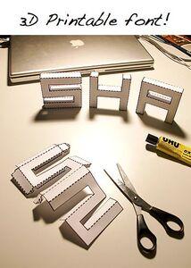 DIY 3D font