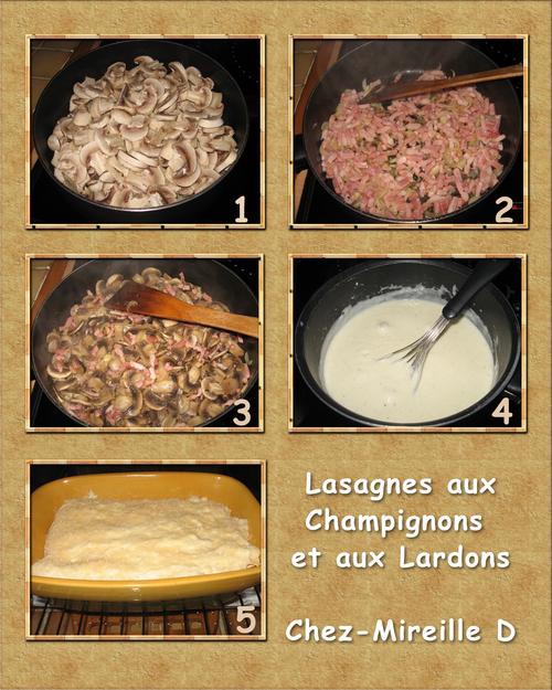 Lasagnes aux Champignons et aux Lardons (à ma Façon)
