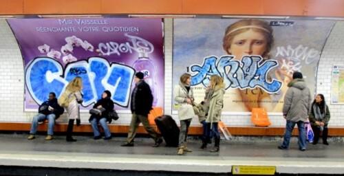 Antiquité rêvée affiche métro tags 1