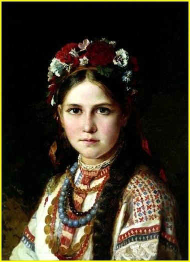 Jeune ukrainienne Huile sur toile 55,5 x 41,5 cm  Musée historique régional, Chernigov, Ukraine.jpg