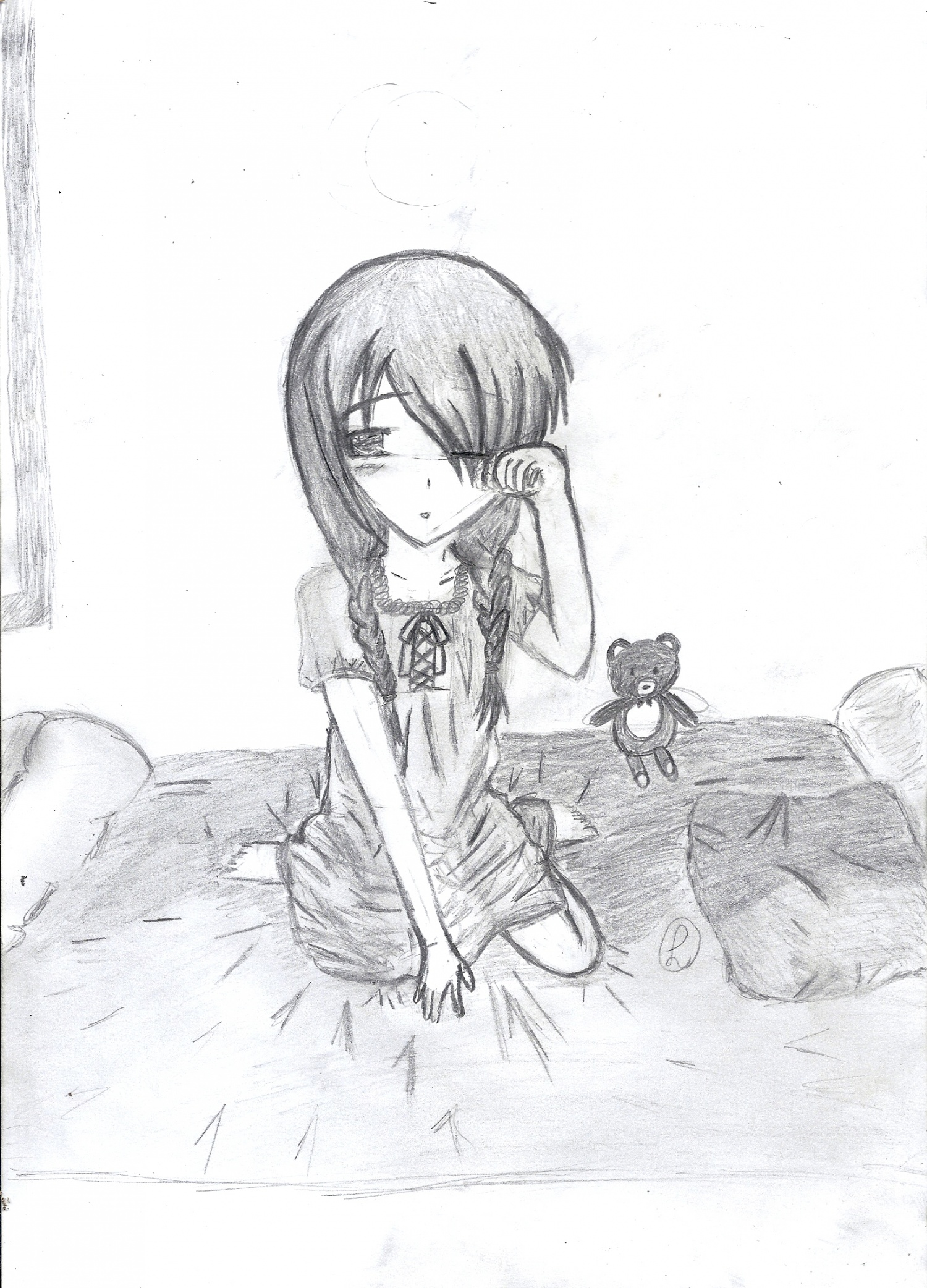 comment dessiner une jeune fille manga. Black Bedroom Furniture Sets. Home Design Ideas