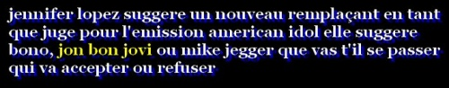 "jon bon jovi et ""american idole"" that the question ??"