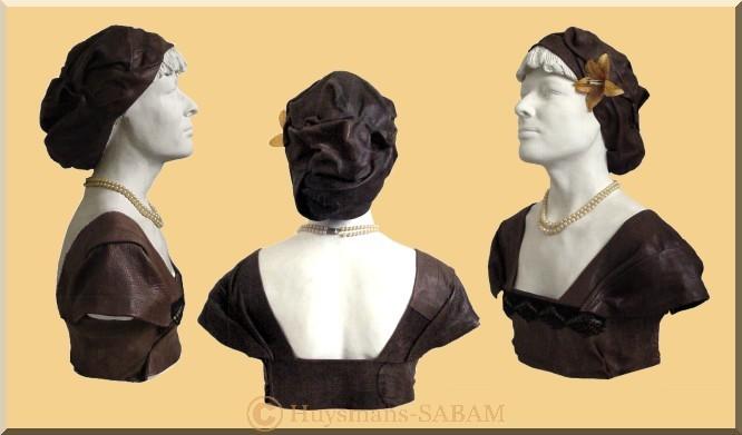 Portrait transposé: buste féminin thème Art Déco - Arts et sculpture: sculpteur portraitiste
