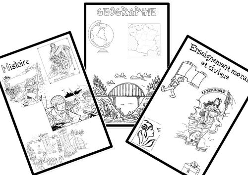 Pages de garde classeur cm1-cm2