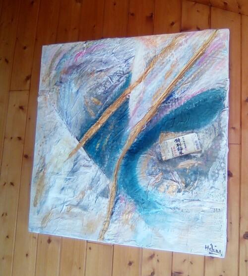 Haikou, Kintsugi Art Plastique - Peinture à l'huile