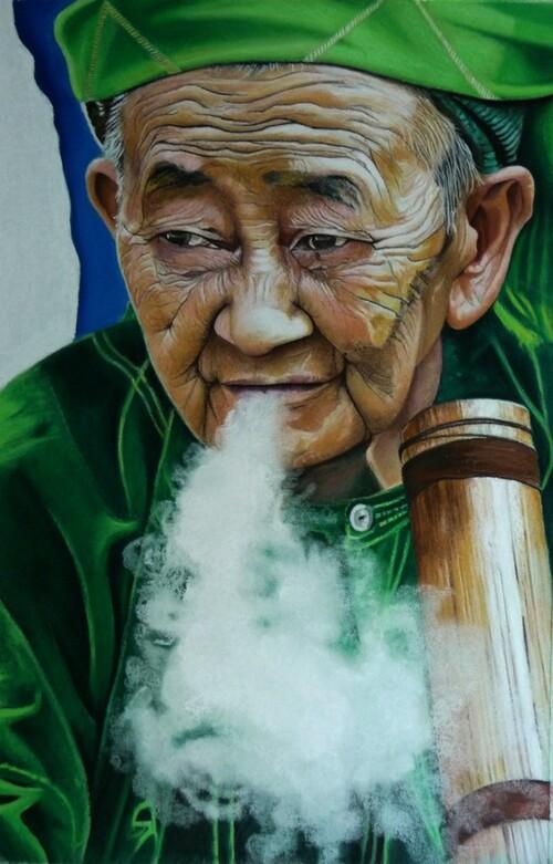 Femme de l'ethnie Hmong au Nord du Vietnam