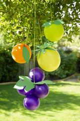 fruit balloons- fruit of the spirit lesson
