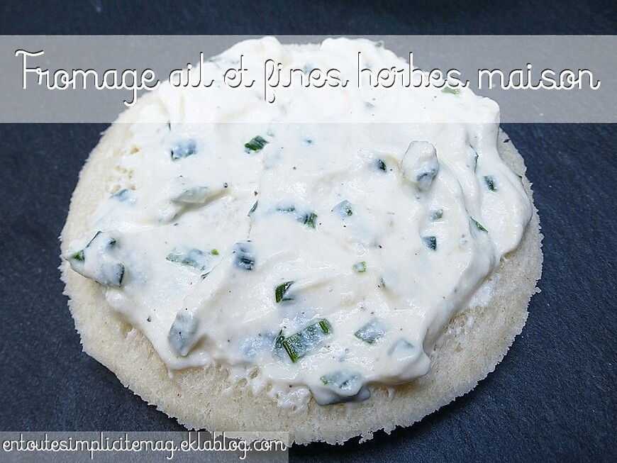 Fromage ail et fines herbes maison