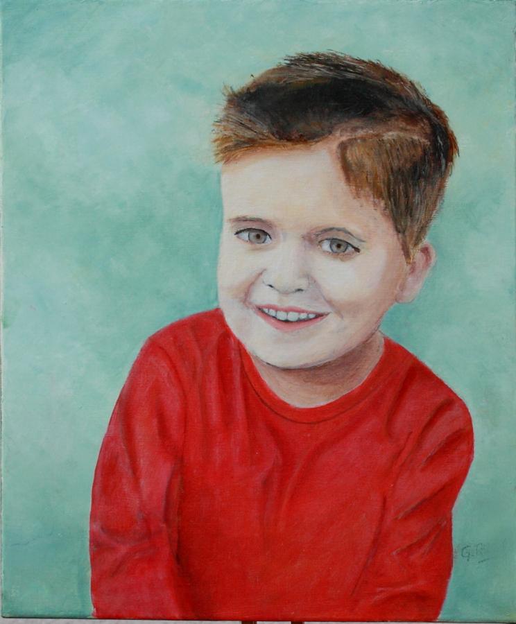 peinture portrait enfant