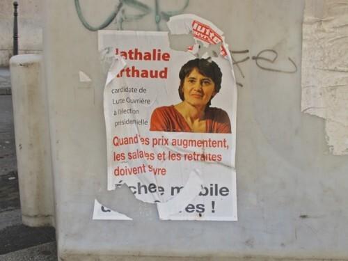 affiche présidentielle 2012 Nathalie Arthaud Lutte 6