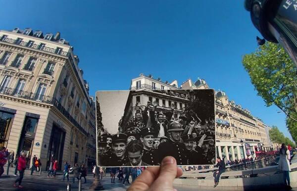 Paris 1944, Paris 2016...des photos géniales !
