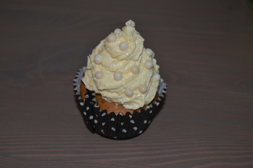 Cupcake blanc comme neige