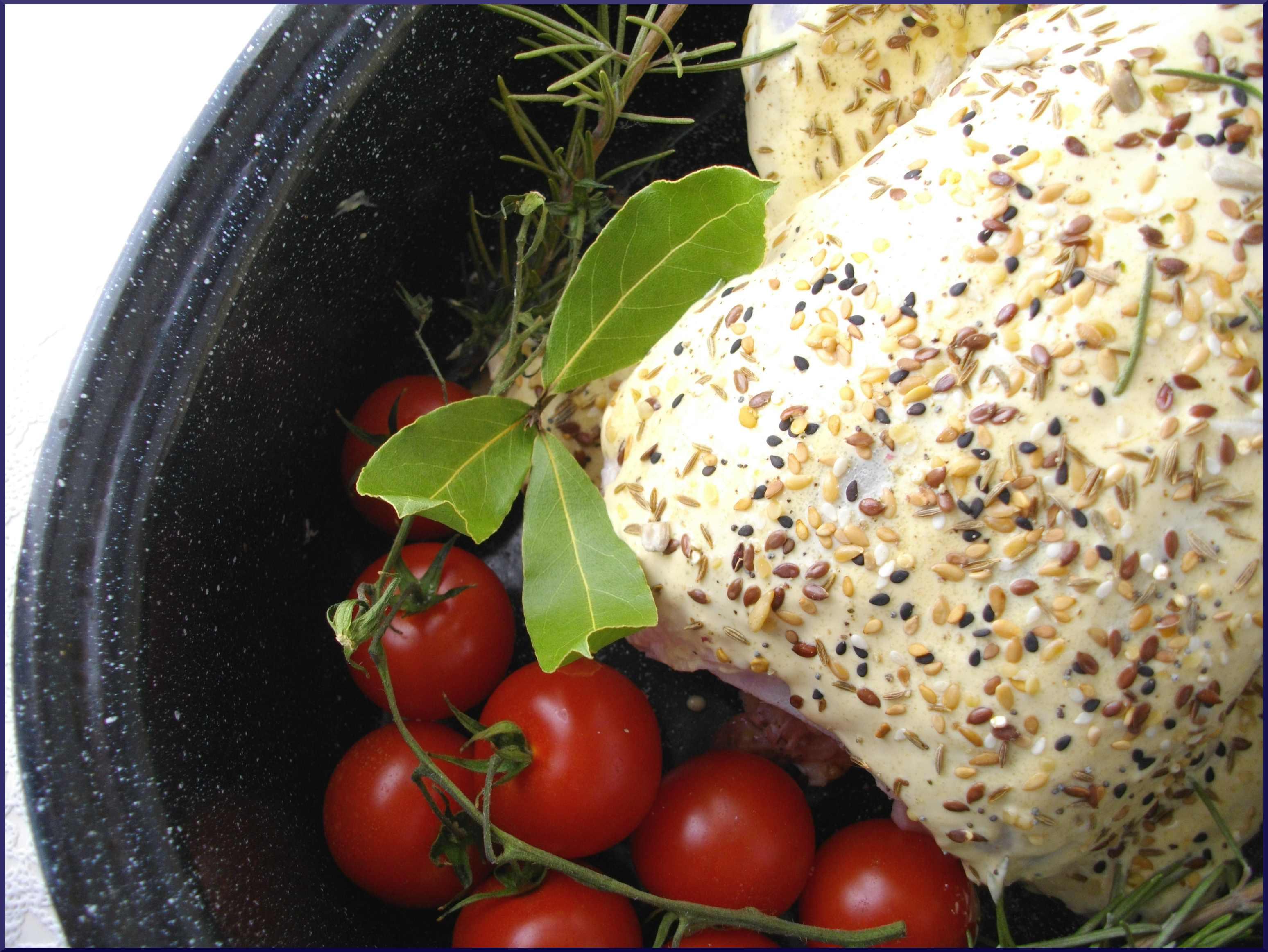 Poulet rôti du dimanche... ''Moutarde & Graines''