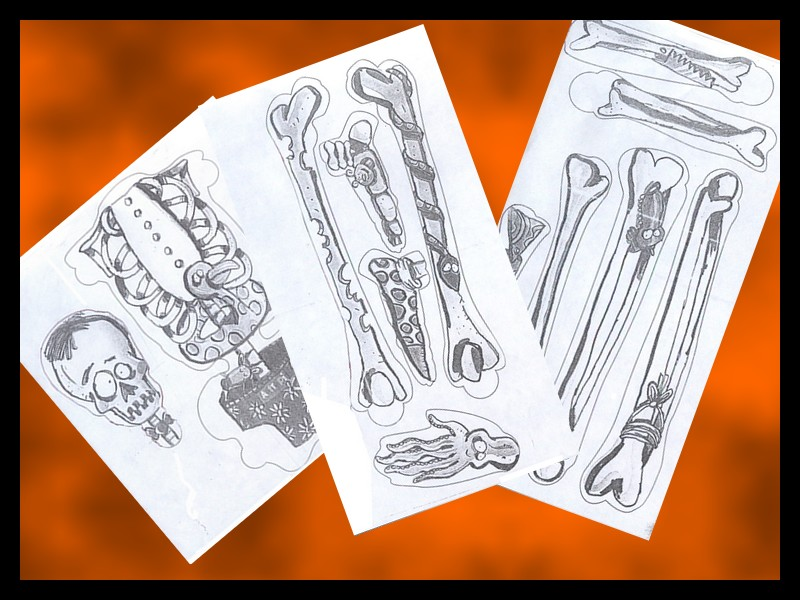 presentation squelette rigolo
