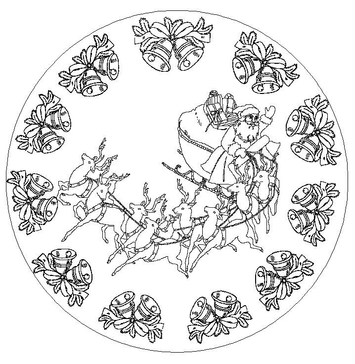 Mandalas de no l coraliecaramel - Coloriage de mandala de noel ...