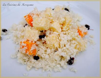 Taboulé de chou fleur au fromage et raisins secs