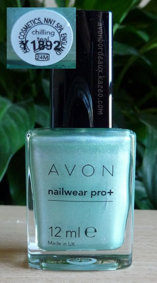 Avon Vernis Chiling Teal Artic Goddess