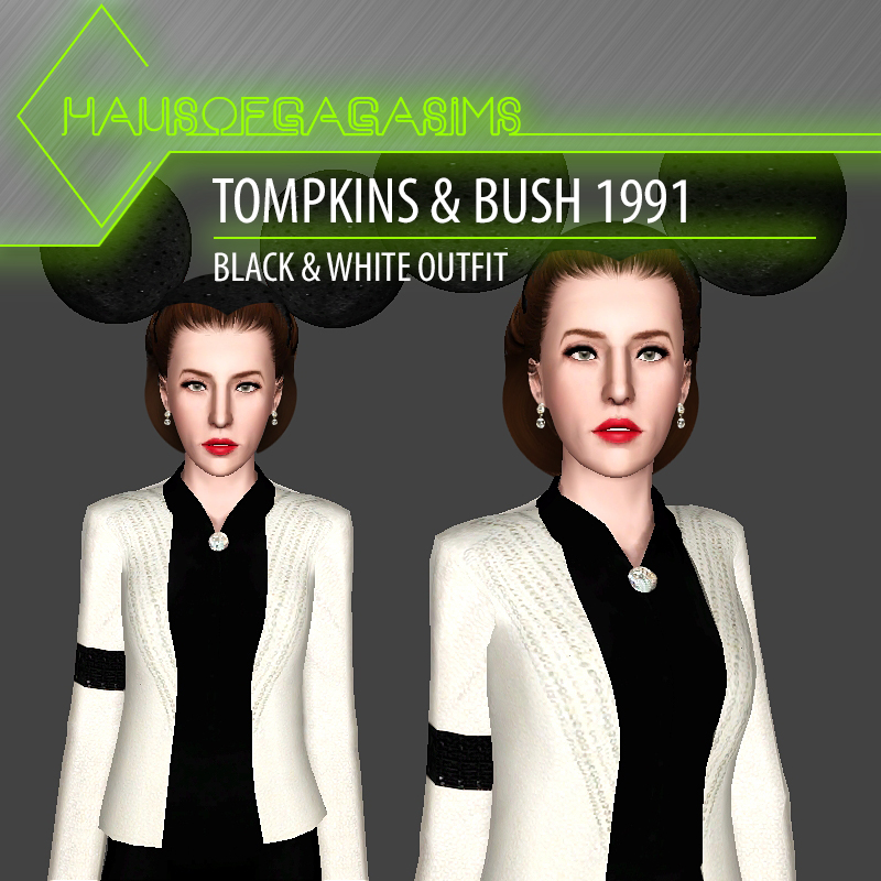 TOMPKINS & BUSH 1991 BLACK & WHITE OUTFIT