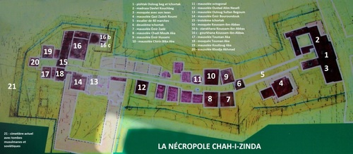 La nécropole Chab-i-Zinda à Samarcande (1)