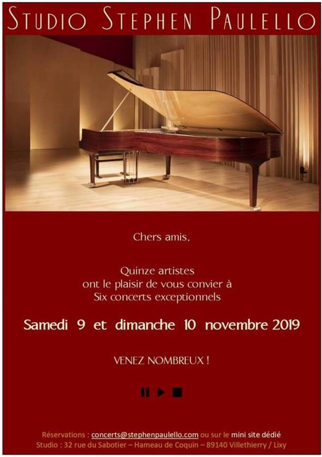 Studio Stephen Paulello: programme de novembre 2019