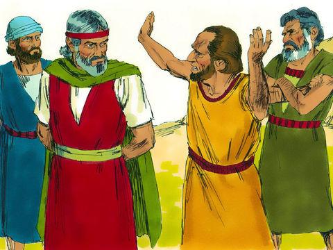 Exode 17 v 1-7 Lorsqu'ils campèrent à Rephidim, il n'y avait pas d'eau à boire.  Ils se sont plaints et se sont disputés avec Moïse exigeant: «Donnez-nous de l'eau à boire!  «Pourquoi vous brouillez-vous avec moi?  Demanda Moïse.  «Pourquoi testez-vous Dieu?  - Diapo 28
