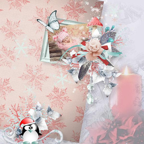 "Collab ""Aube givrée"" by Saskia, ButterflyDsign, Let Creativity Run Loose & Desclics"
