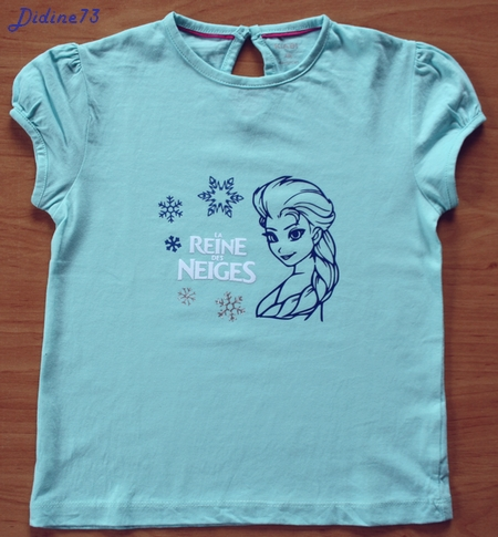 Mon 3ème tee-shirt avec décos flex (et flock)