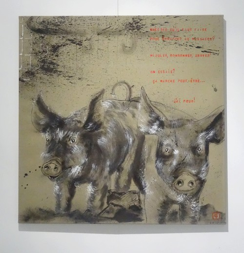Isabelle Tristan-Coudrot a exposé de merveilleux portraits d'animaux à la galerie Pompon de Saulieu
