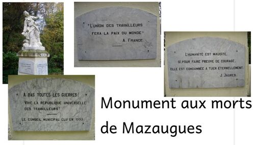 Monument aux morts de Mazaugues