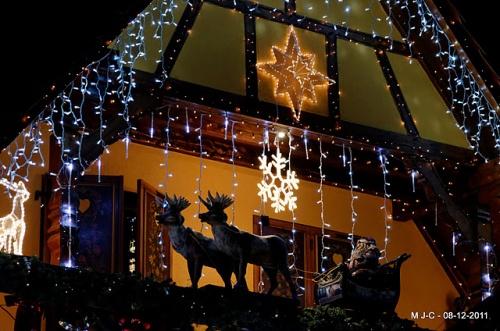 Décorations de Noël à Schweighouse par Jean-Claude Mischler