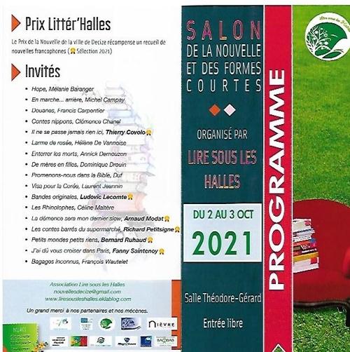 Journées Littér'Halles 2021 - Nouvelles et formes courtes programme page 2