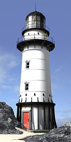 Vertical picture of a lighthouse