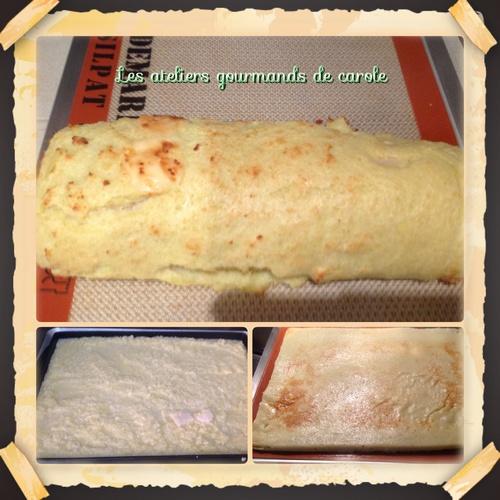 Roulé de pomme de terre, jambon et fromage