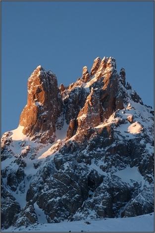 Topo Raquette : De Névache au Col des Muandes (Clarée, 2014)