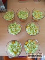 Verrines crumble légumes croquants et feta