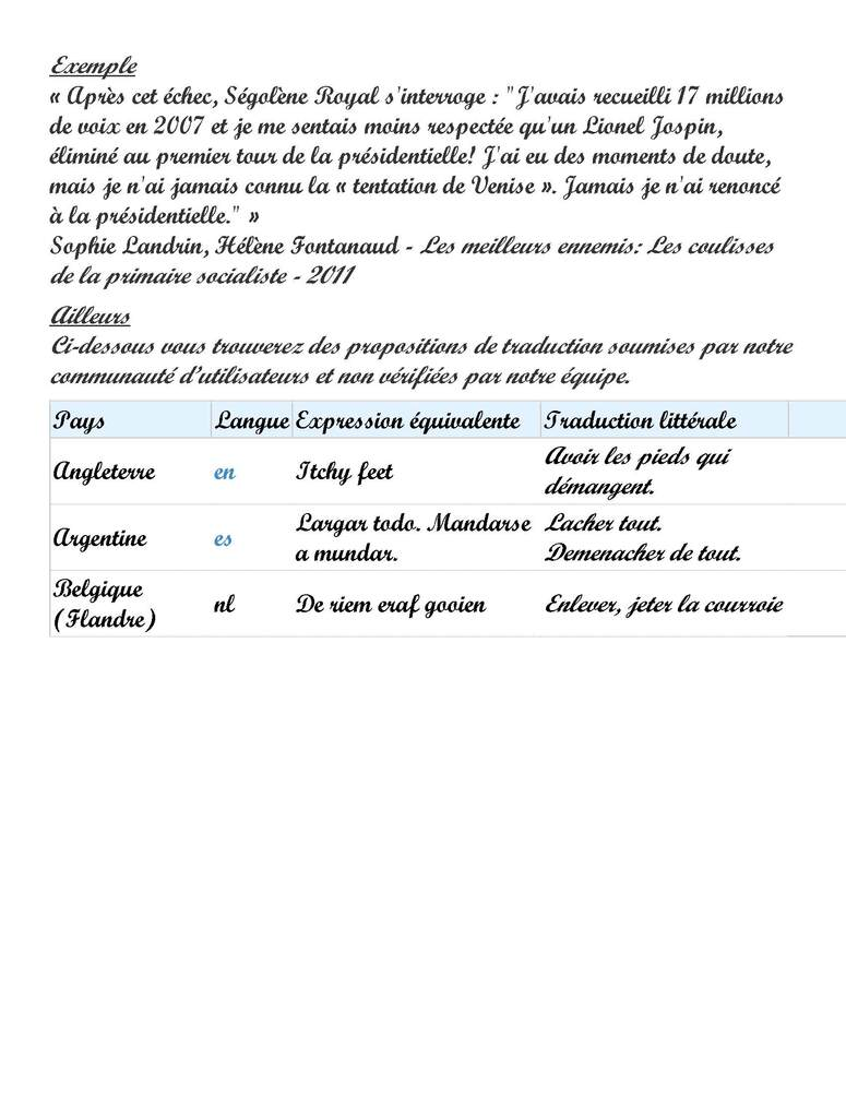 Expression du Jour 2:  La tentation de Venise (2 pages)