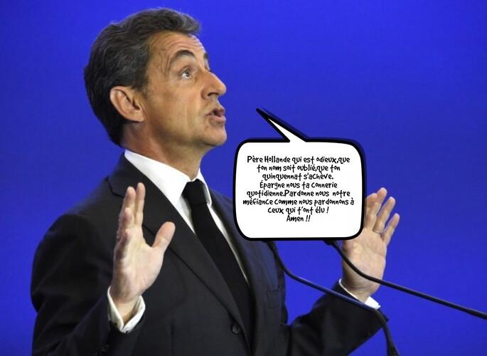 Quand Sarkozy prie !