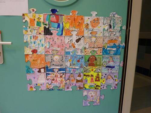Décoration de porte - Puzzle de la classe