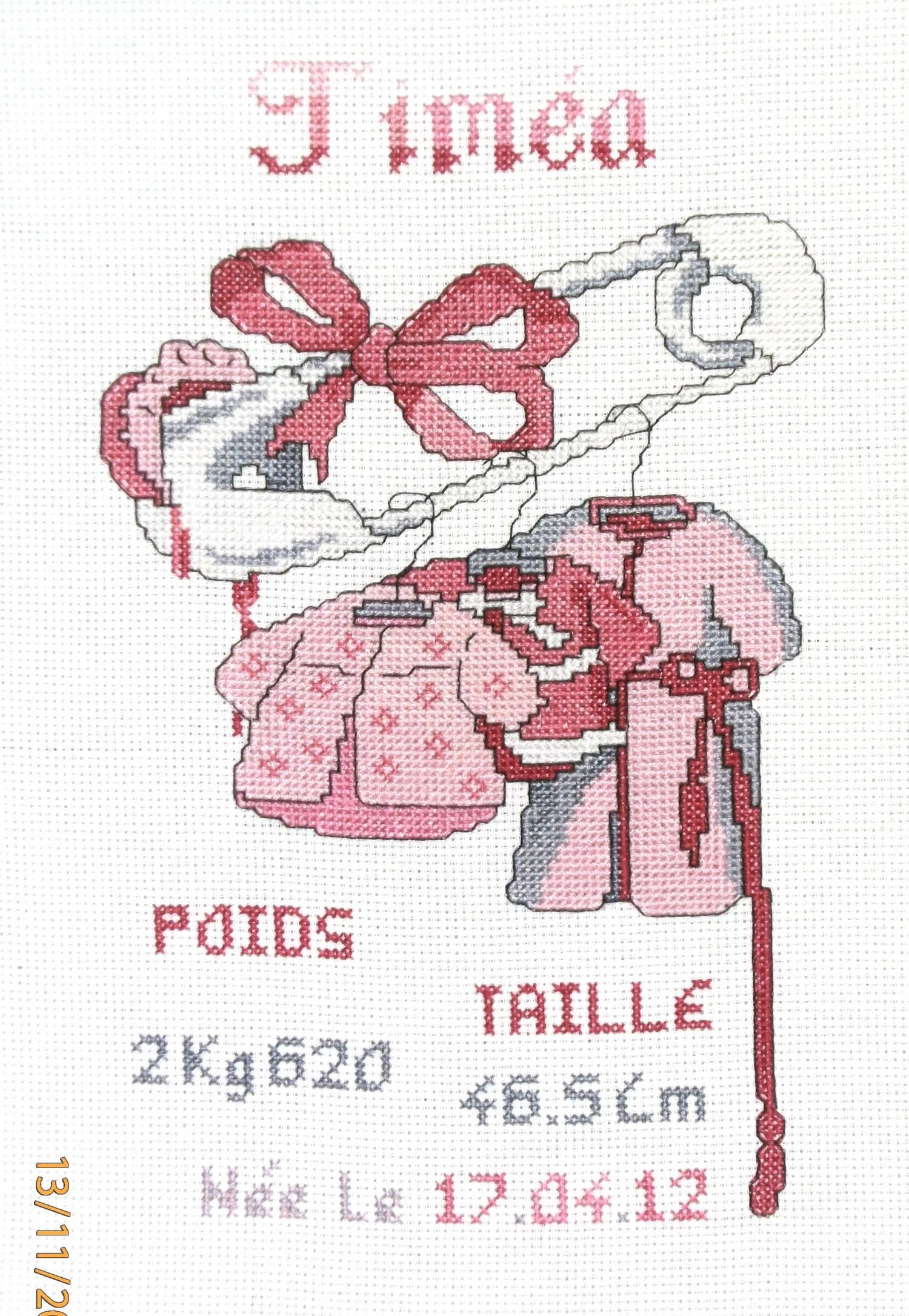 Point de croix naissance epingle naissance fille 89 les - Grille gratuite point de croix naissance ...