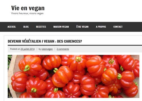 Devenir végétalien / vegan : des carences ? (Vie en vegan)