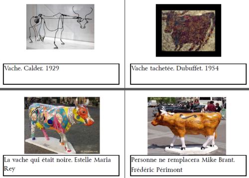 Les vaches dans l'art