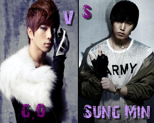 G.O (MBLAQ) vs Sung Min (Super Junior) - Round 22