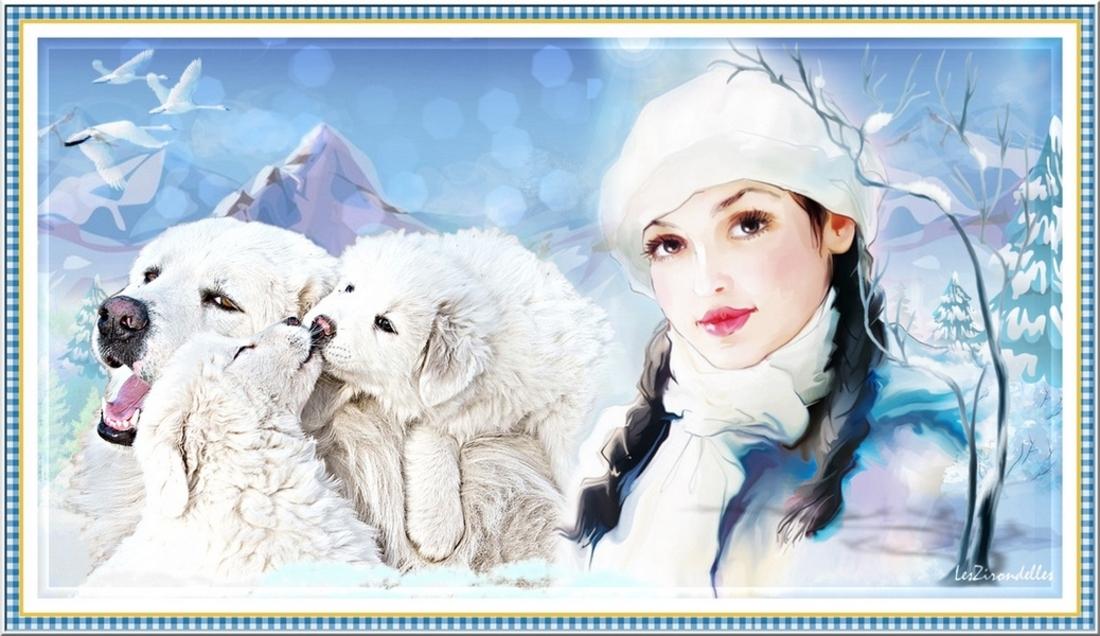 Cadres d'entêtes /hiver bleu, Les Patous