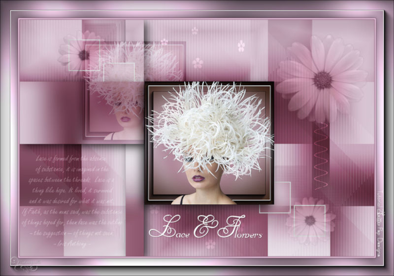 *** Les 436-Lace and flowers ***