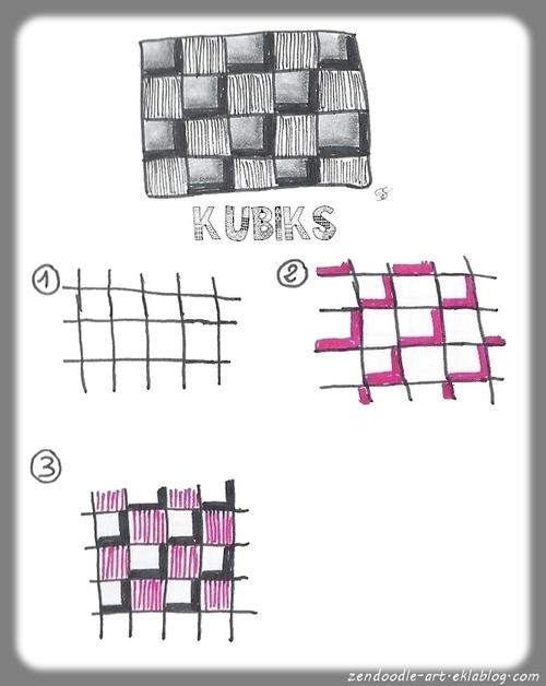 Zendoodle : réaliser un motif cubique